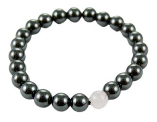 Bracelet Magnetic Hematite Rose Quartz 8mm