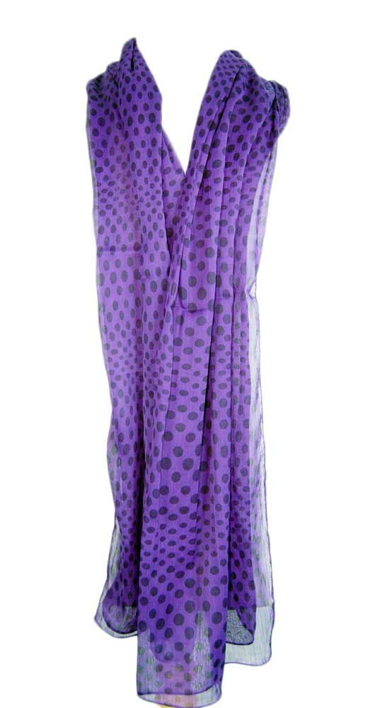 Scarf Purple 157x55 Approx