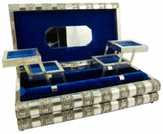 Box Jewellery Metal Blue 15X8 Inch