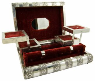 Box Jewellery Metal Rose Red
