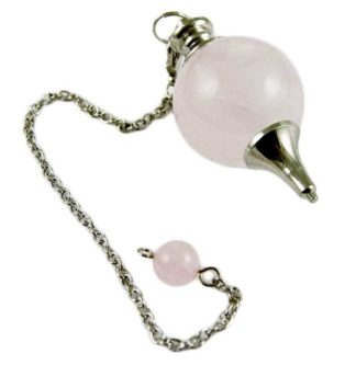 Pendulum With 25mm Ball Rose Quartz