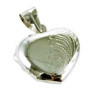 Silver Pendant Locket Heart