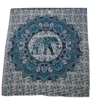 Bedspread Double Elephant Green