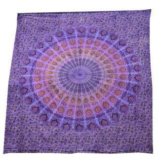 Bedspread Double Mandala Purple