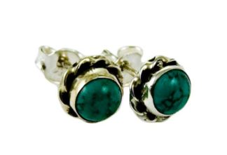 Silver Earring Stud Turquoise