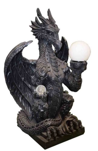 Dragon Lamp Black