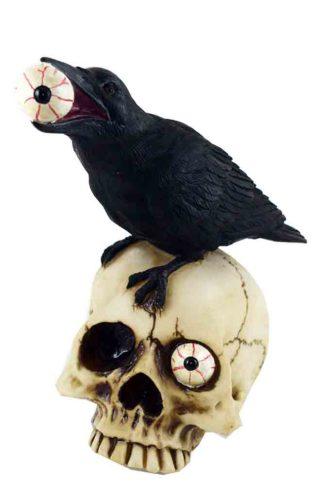 Skull Head With Bird