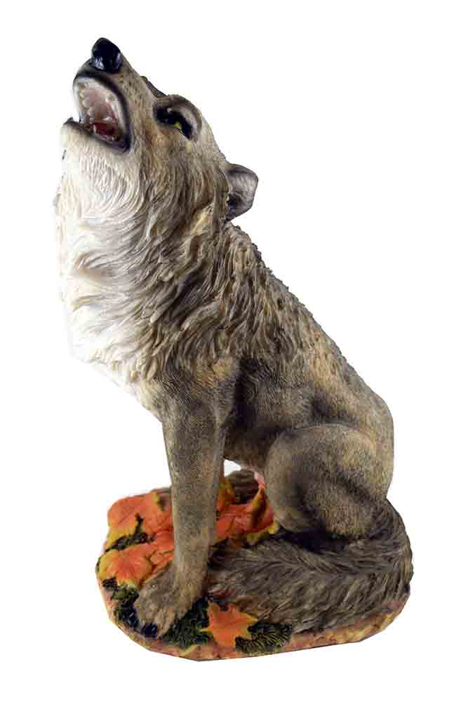 Wolf Howling Sitting On Base
