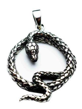 Silver Pendant Twisted Snake