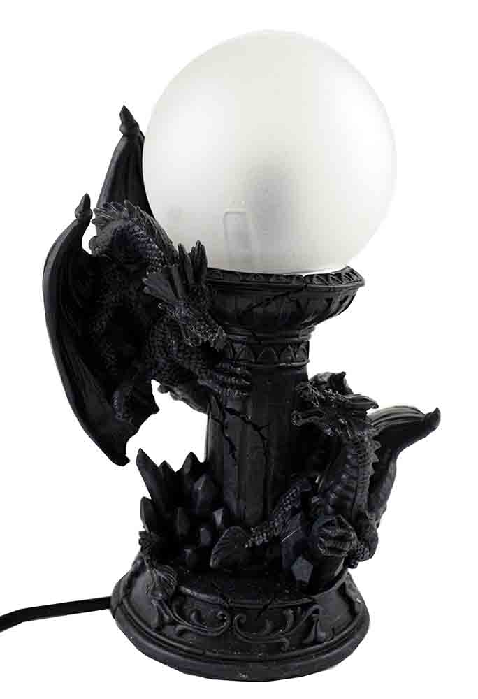 Dragon Light Black Resin W17cm