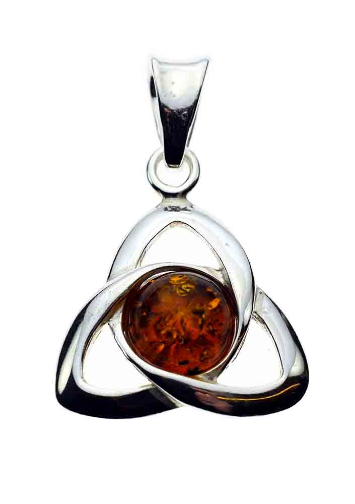 Silver Pendant Amber