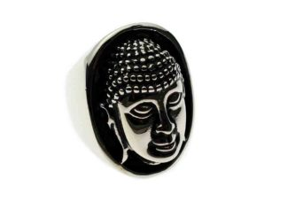 Ring Stainless Steel Buddha Head