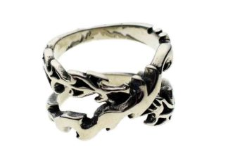 Ring Stainless Steel Tribal