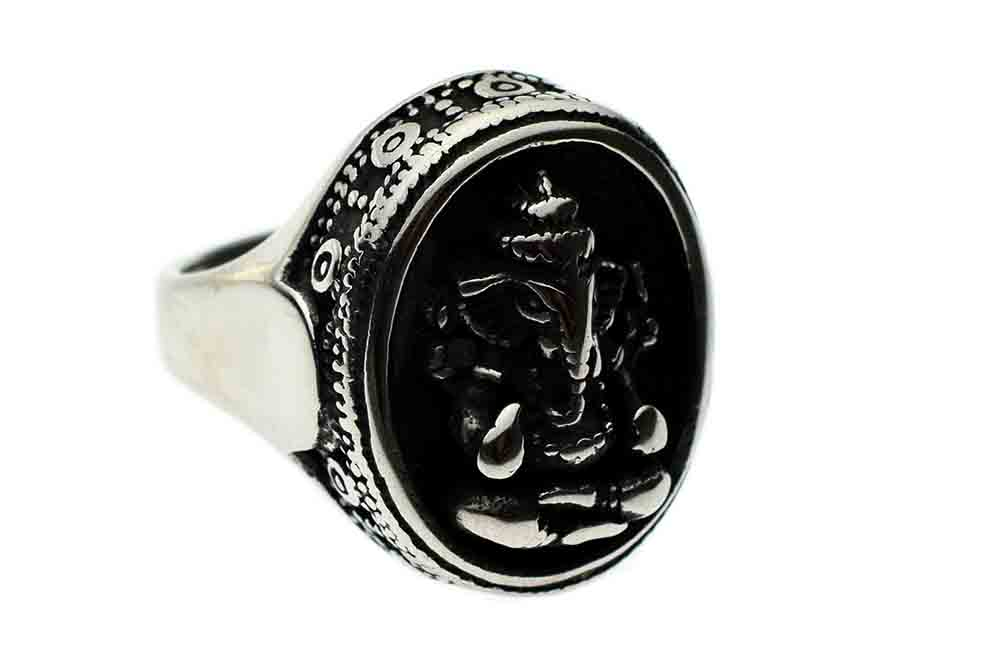 Ring Stainless Steel Ganesh