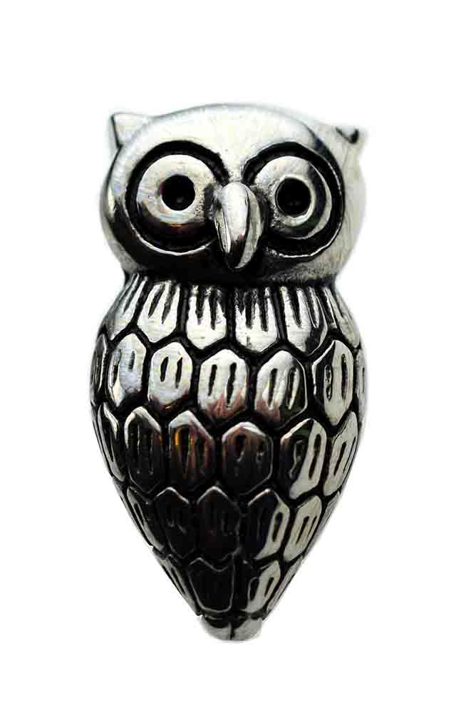 Pendant Owl Stainless Steel