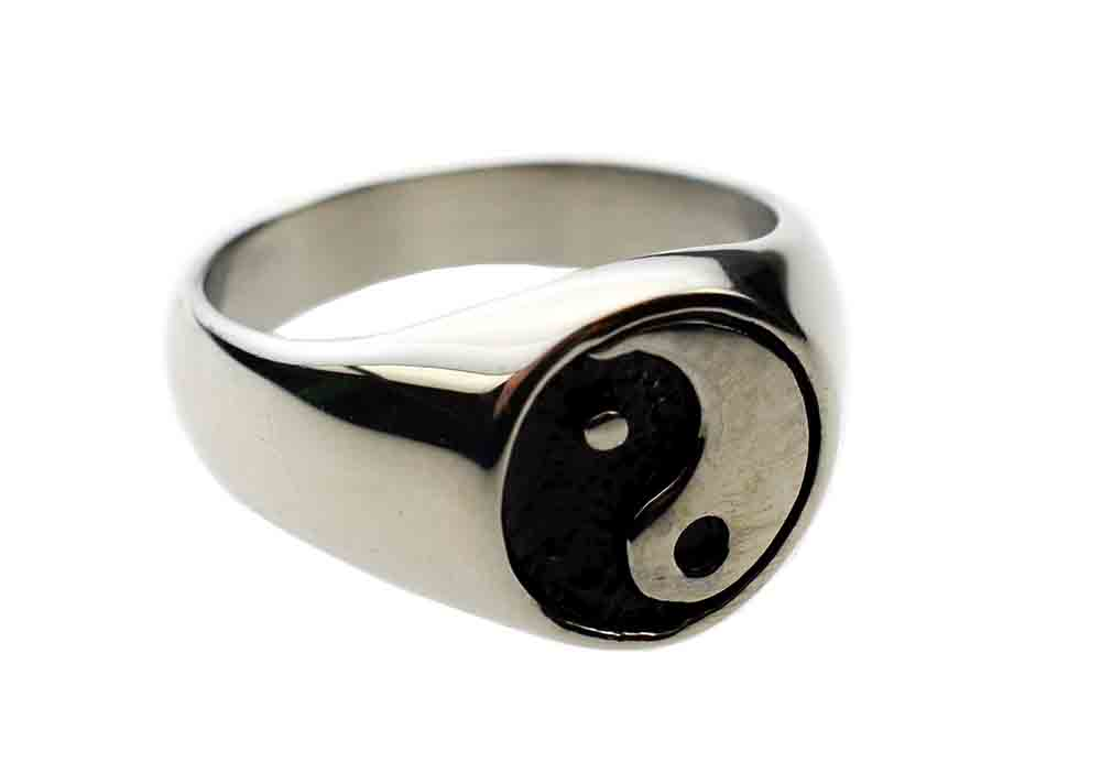 Ring Ying Yang Stainless Steel