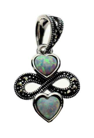 Silver Pendant Marcasite Opal
