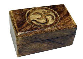 Box Carved Om Symbol