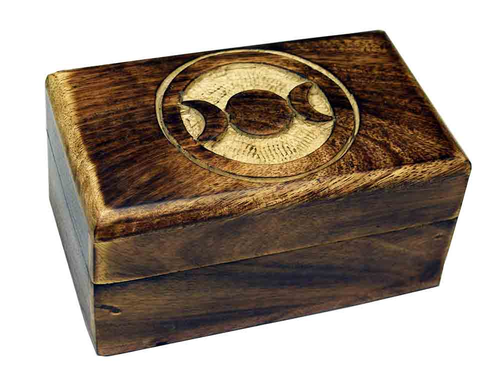 Box Carved Pagan Moon