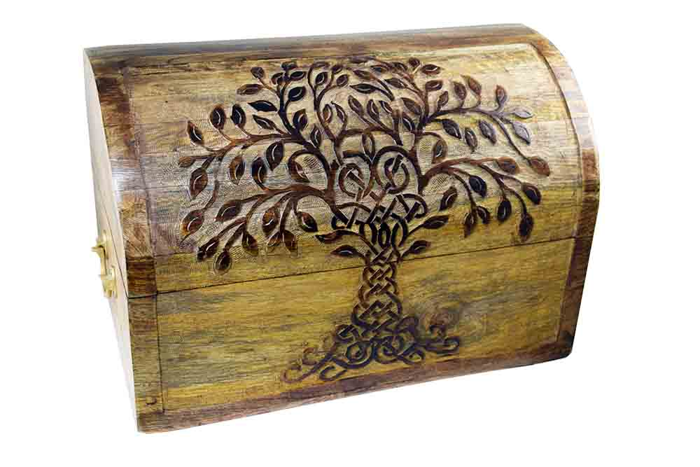 Box Chest With Tree Design