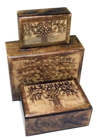 Box Rectangle Tree Set Of 3
