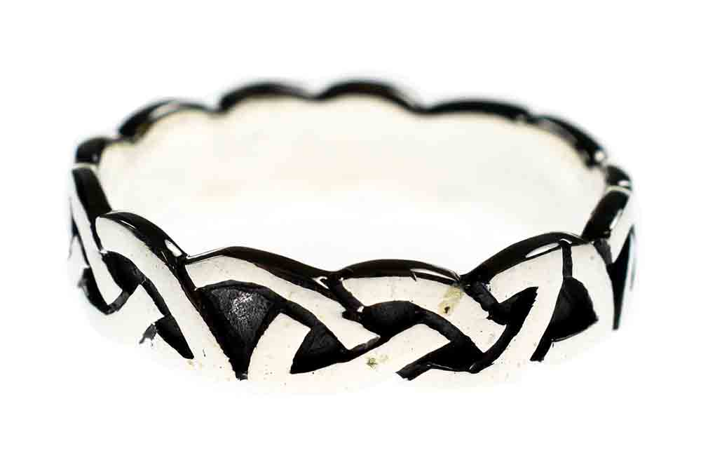 Silver Ring Band Celtic Weave