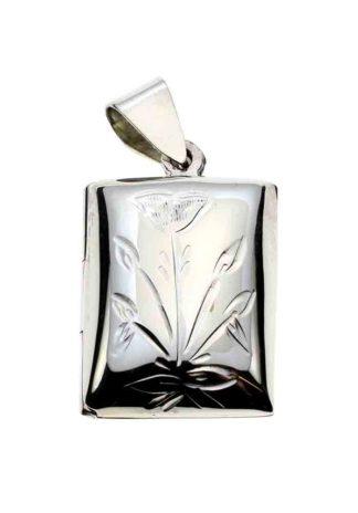 Silver Pendant Locket Sq