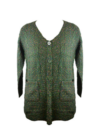 Cardigan Knitted Green One Siz