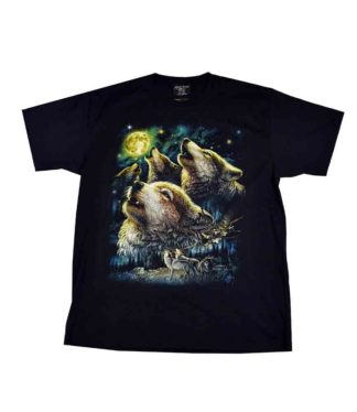 T-Shirt Large Howling Wolves
