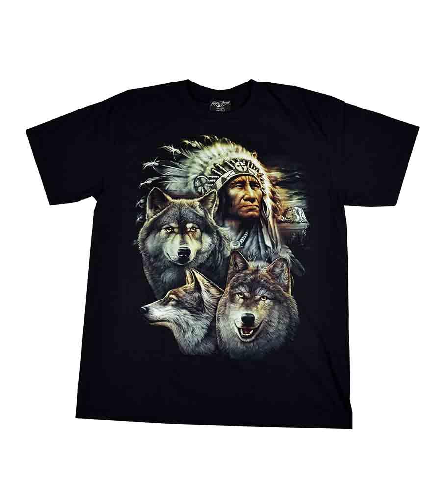 T-Shirt XL Indian Wolves