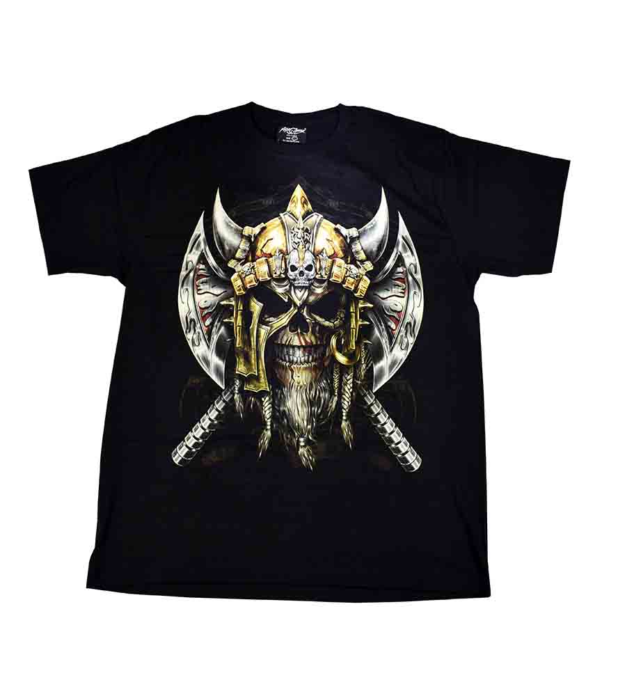 T-Shirt Large Viking Skull
