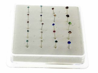 Nose Stud Silver Assorted 20pcs