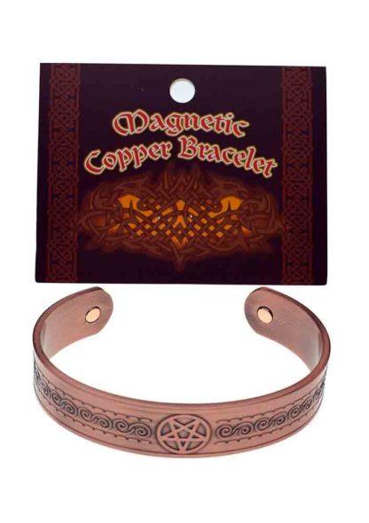 Bracelet Copper Magnetic Pentagram