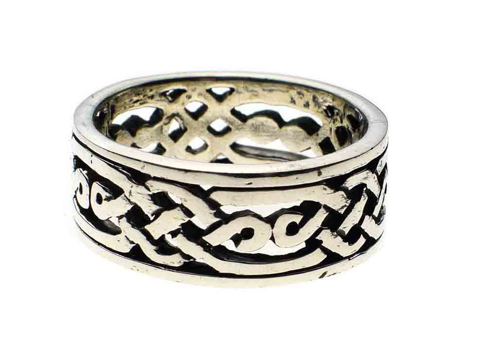 Silver Ring Band Celtic Cut