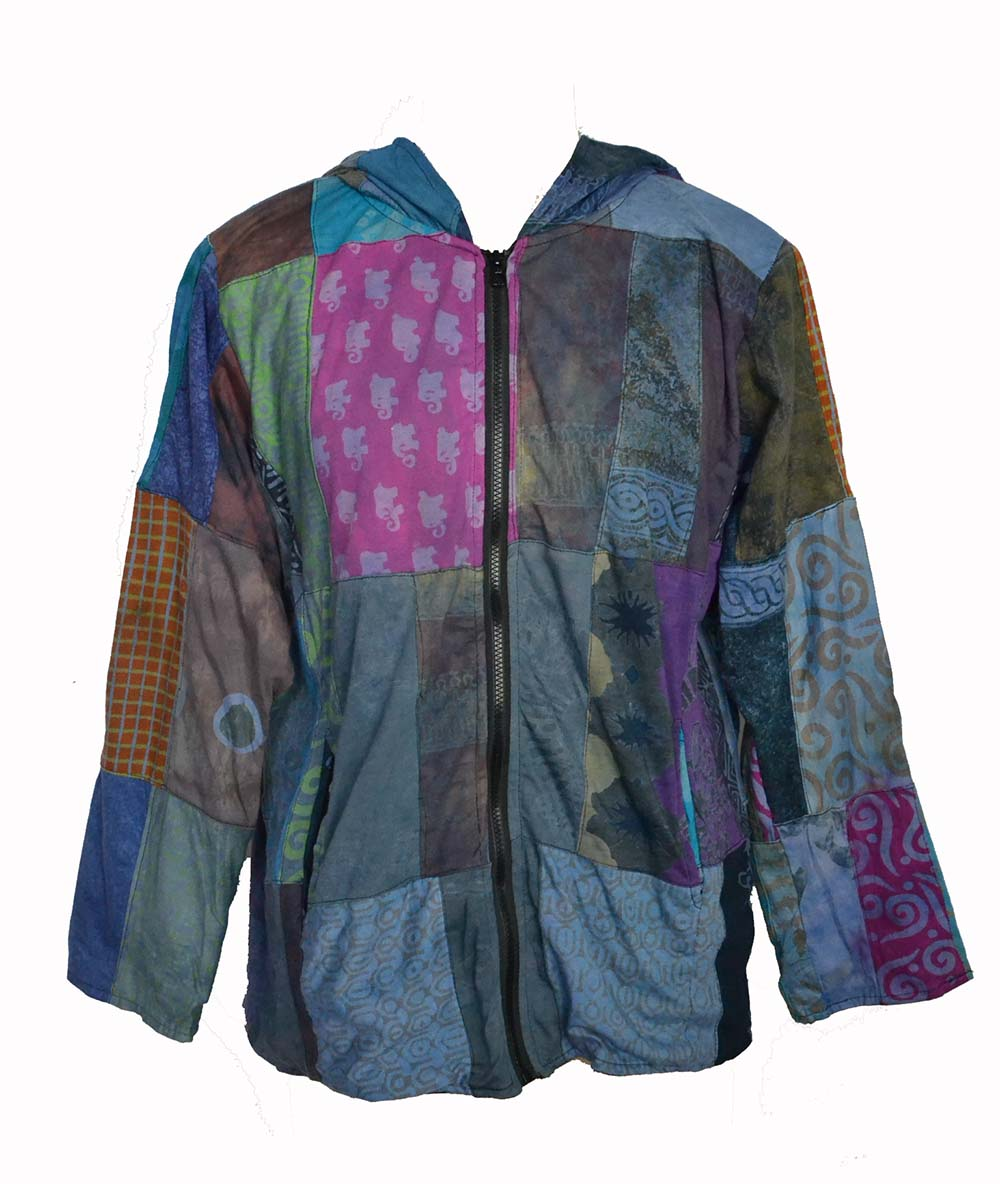 Jacket Capucon Zip Patchwork