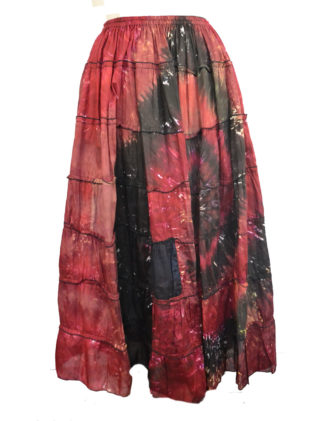 Skirt Long Tiered Brown
