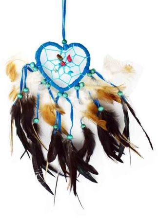 Dream Catcher Heart Turq 6cm