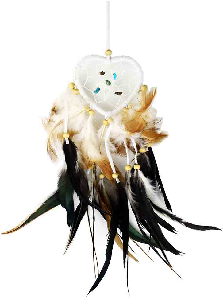 Dream Catcher Heart White 6cm