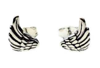 Silver Earring Stud Wings