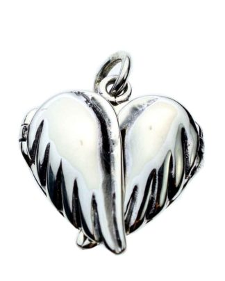 Silver Pendant Locket Heart